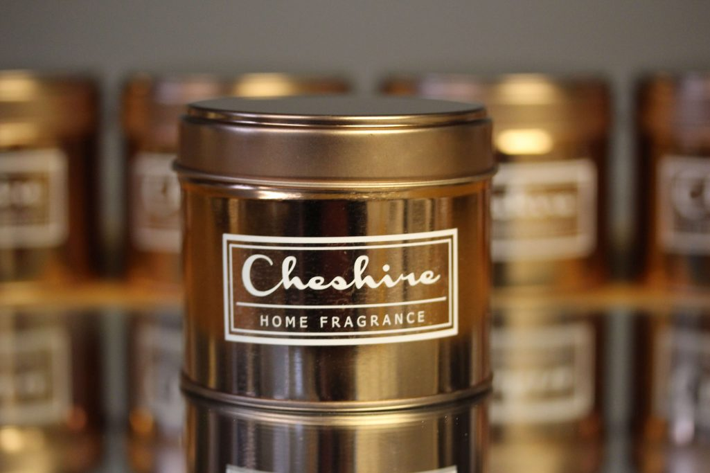 Rose Gold Tin Single Wick Candle Cheshire Home Fragrance