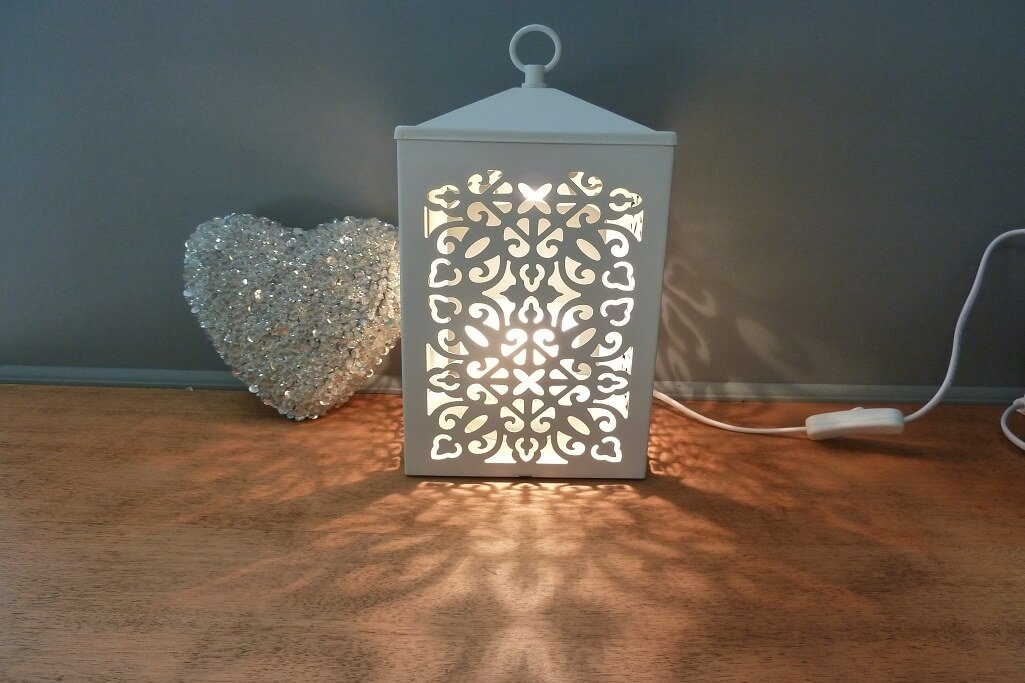 Scroll Lamp White Candle Warmer Cheshire Home Fragrance