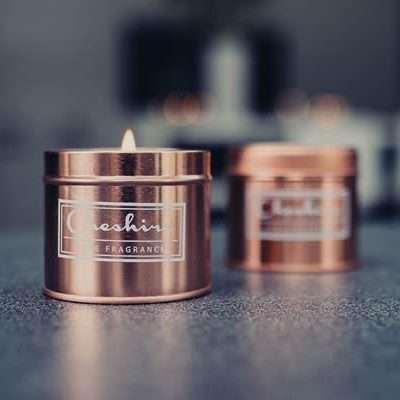 Rose Gold Tin Candles
